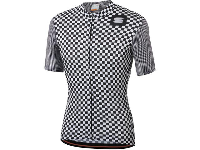 Sportful Checkmate Jersey Uomo, white black